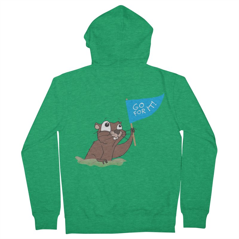 Gopher it! Men's French Terry Zip-Up Hoody by LLUMA Creative Design