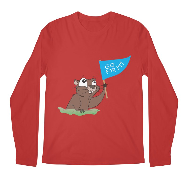 Gopher it! Men's Regular Longsleeve T-Shirt by LLUMA Creative Design