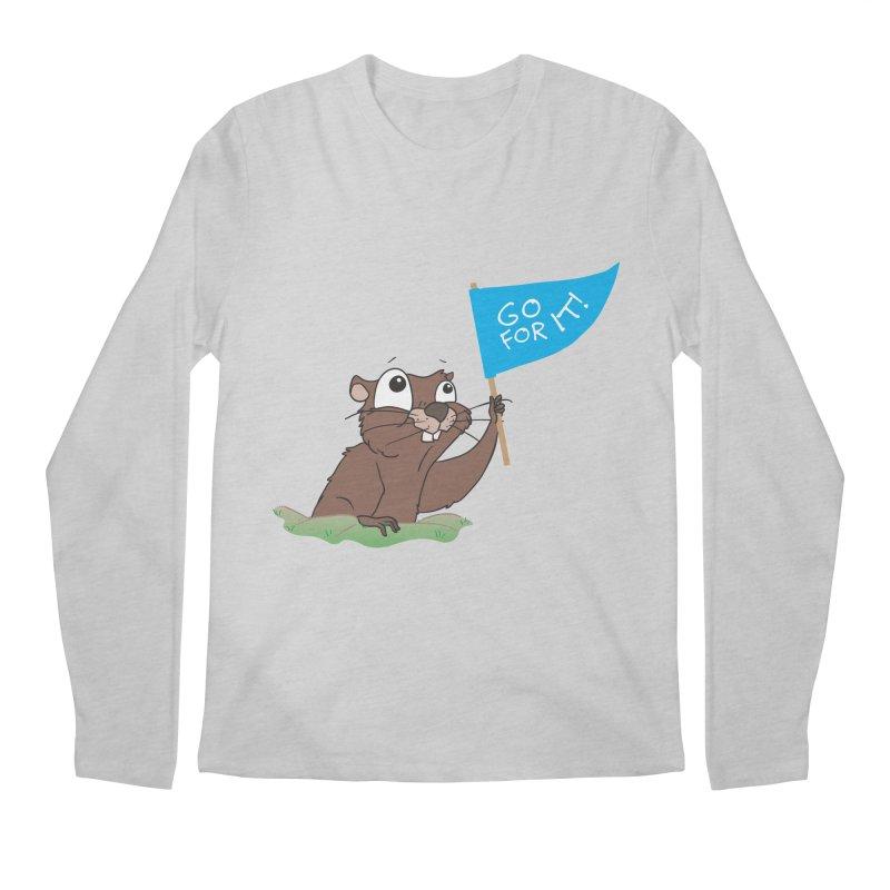 Gopher it! Men's Regular Longsleeve T-Shirt by LLUMA Creative Design
