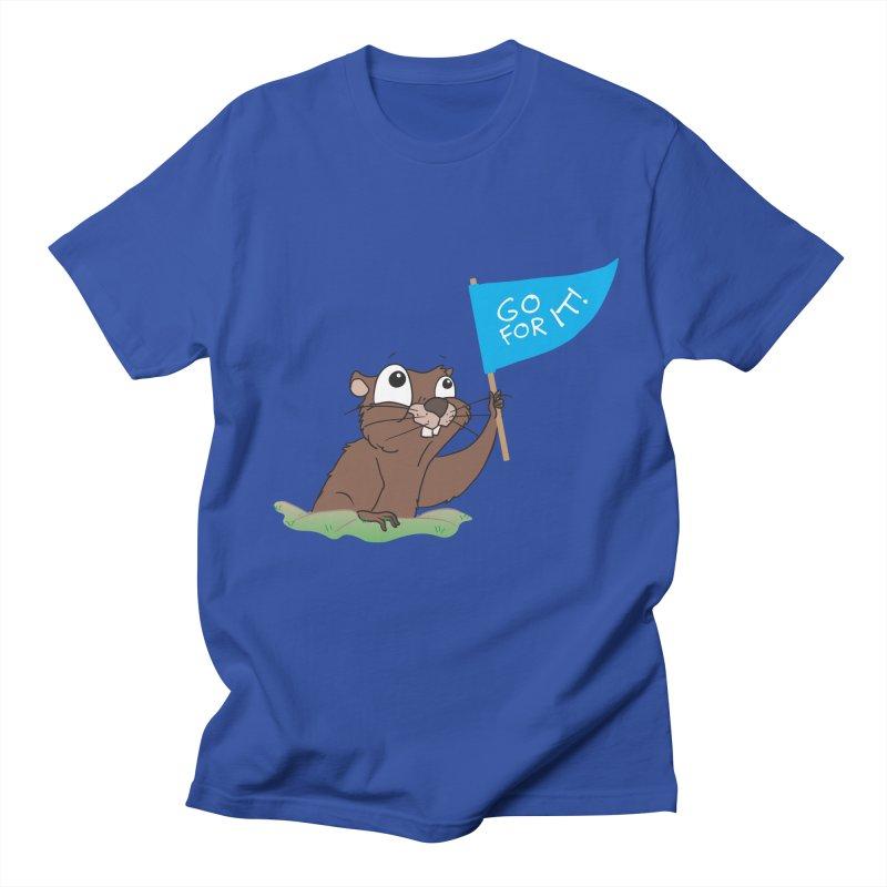 Gopher it! Men's Regular T-Shirt by LLUMA Creative Design