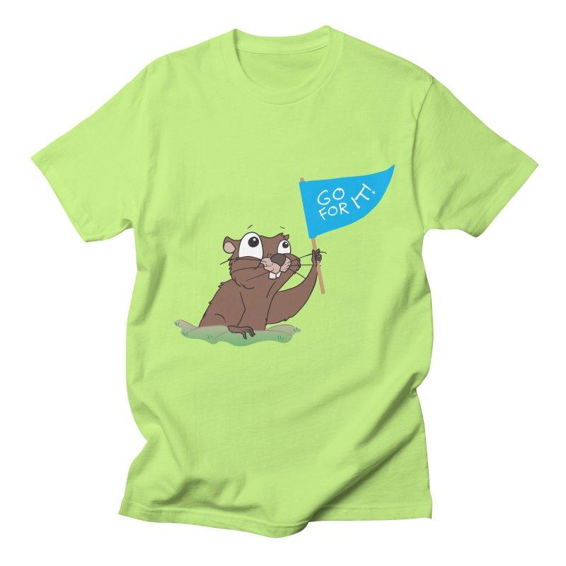Gopher it! Women's Unisex T-Shirt by LLUMA Creative Design