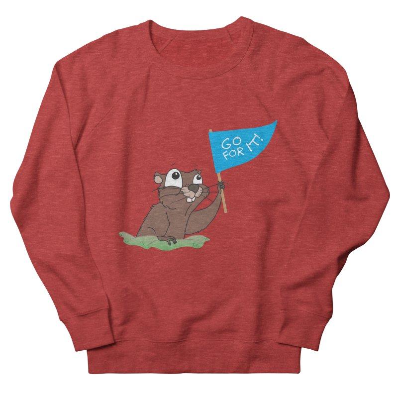 Gopher it! Women's French Terry Sweatshirt by LLUMA Creative Design