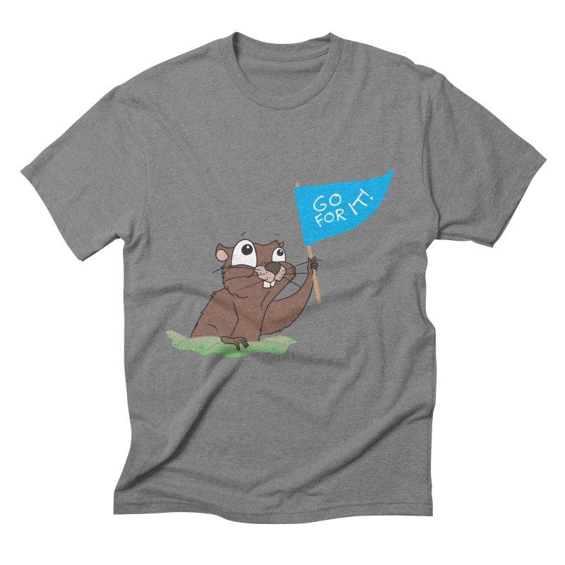 Gopher it! Men's Triblend T-Shirt by LLUMA Creative Design
