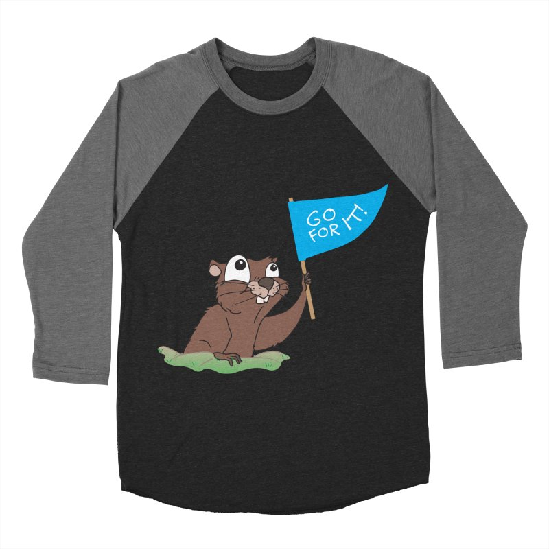 Gopher it! Men's Baseball Triblend Longsleeve T-Shirt by LLUMA Creative Design