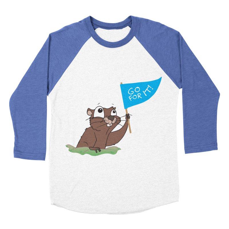 Gopher it! Men's Baseball Triblend Longsleeve T-Shirt by LLUMA Creative Design