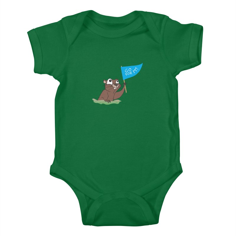 Gopher it! Kids Baby Bodysuit by LLUMA Creative Design