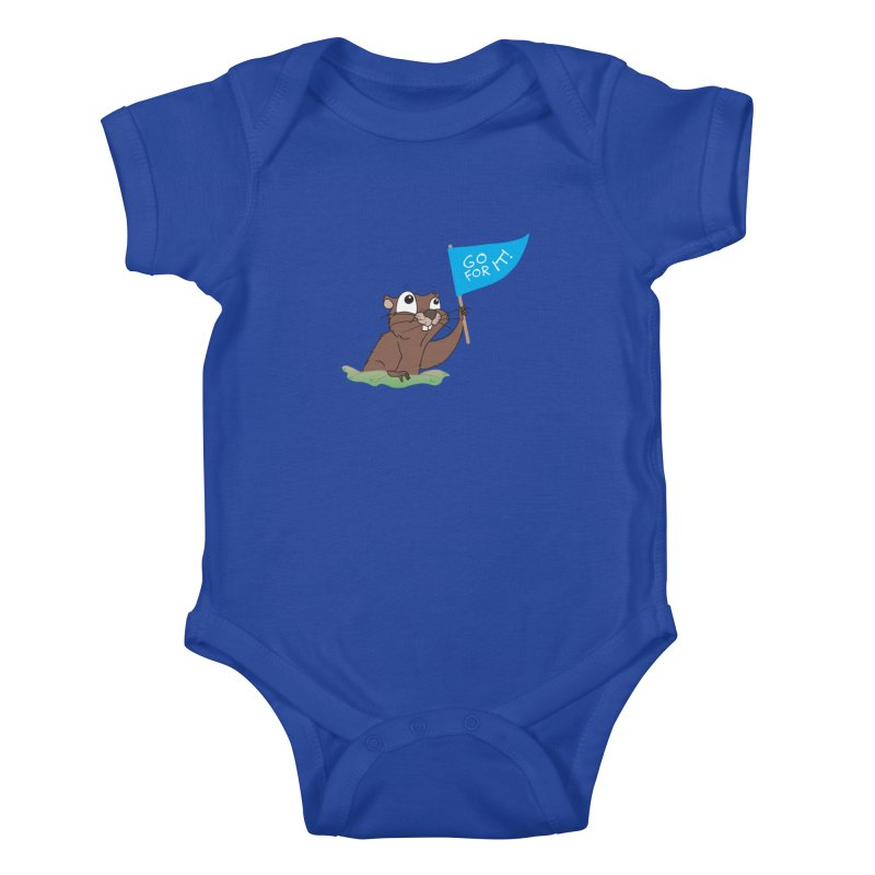 Gopher it! Kids Baby Bodysuit by LLUMA Creative Design