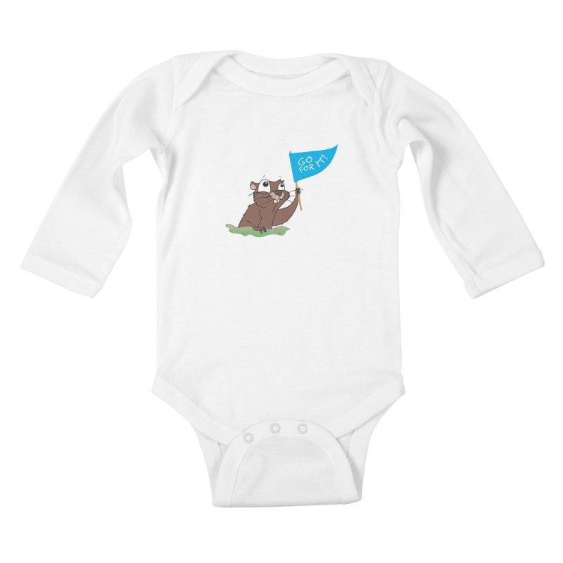 Gopher it! Kids Baby Longsleeve Bodysuit by LLUMA Creative Design