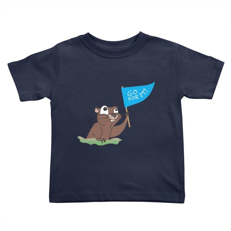 Gopher it! Kids Toddler T-Shirt by LLUMA Creative Design