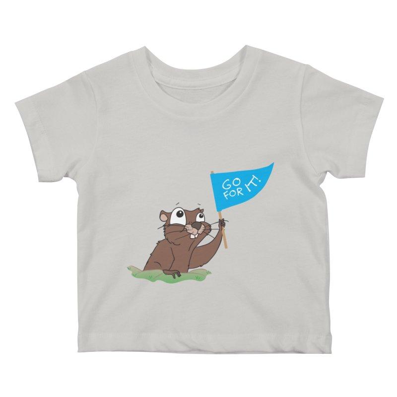 Gopher it! Kids Baby T-Shirt by LLUMA Creative Design