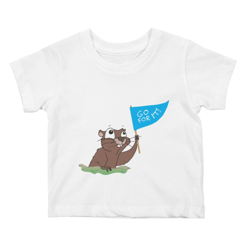 Gopher it! Kids Baby T-Shirt by LLUMA Creative Design