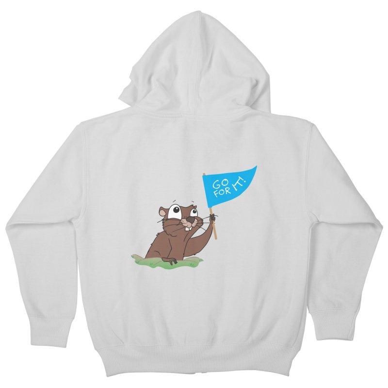 Gopher it! Kids Zip-Up Hoody by LLUMA Creative Design
