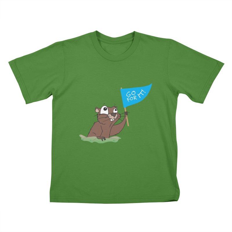 Gopher it! Kids T-Shirt by LLUMA Creative Design