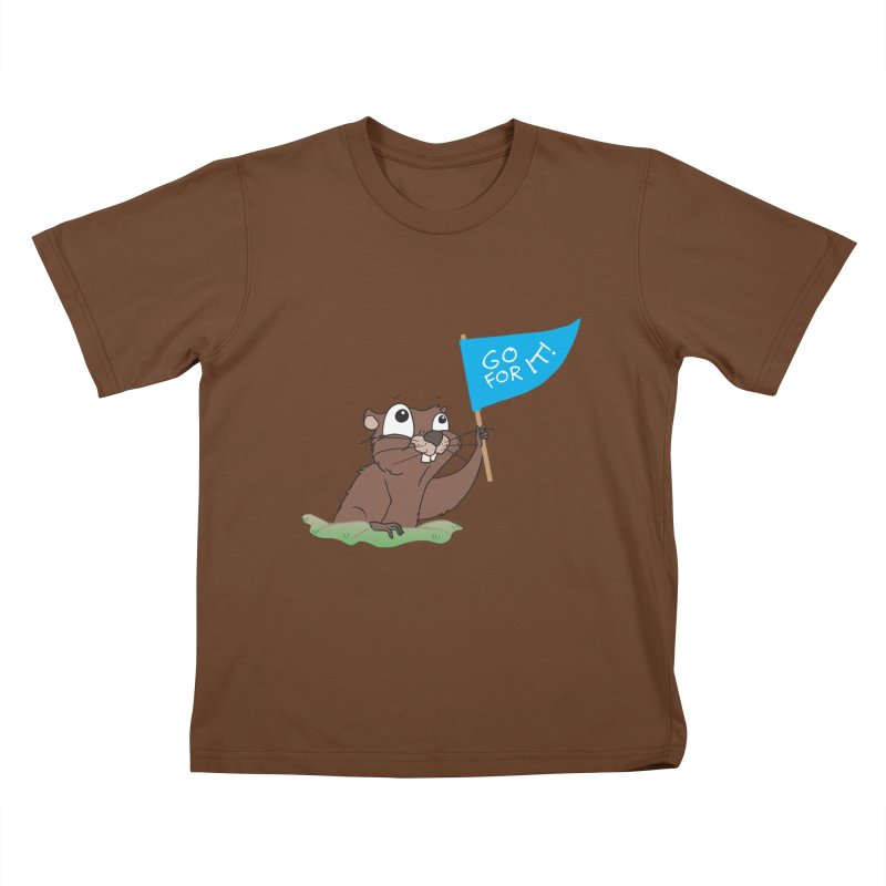 Gopher it! Kids T-Shirt by LLUMA Creative Design