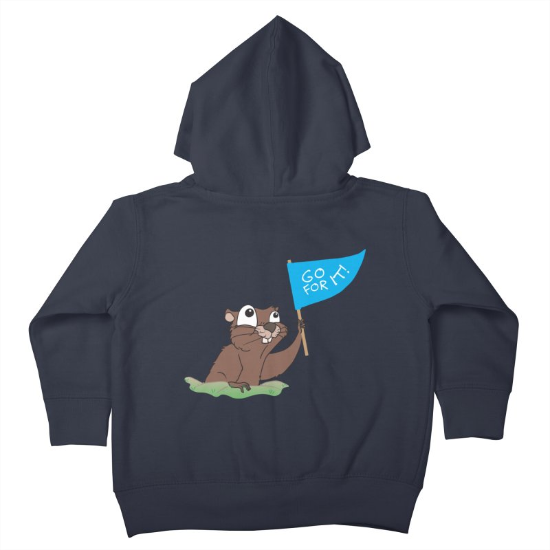 Gopher it! Kids Toddler Zip-Up Hoody by LLUMA Creative Design