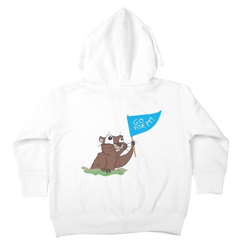 Gopher it! Kids Toddler Zip-Up Hoody by LLUMA Creative Design