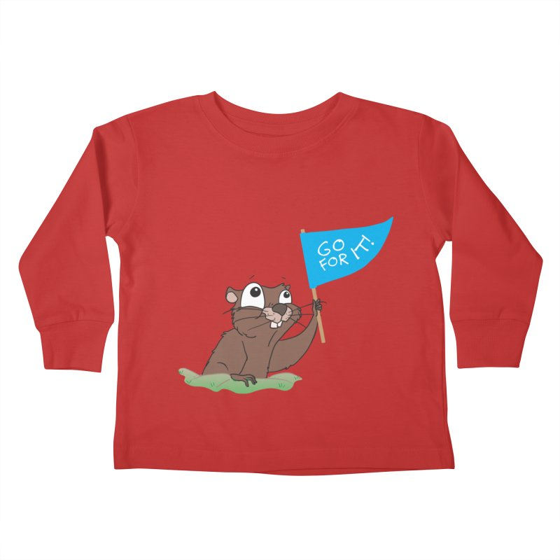 Gopher it! Kids Toddler Longsleeve T-Shirt by LLUMA Creative Design