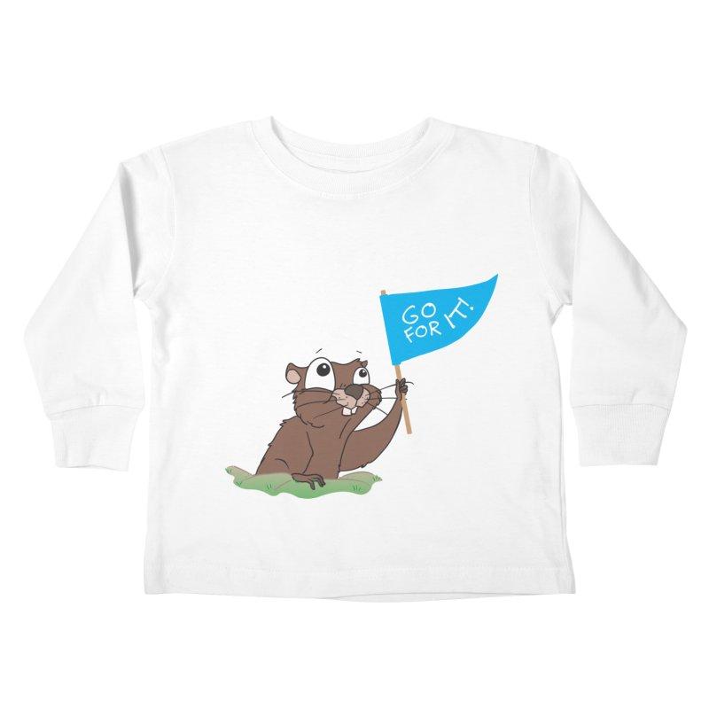 Gopher it! Kids Toddler Longsleeve T-Shirt by LLUMA Creative Design