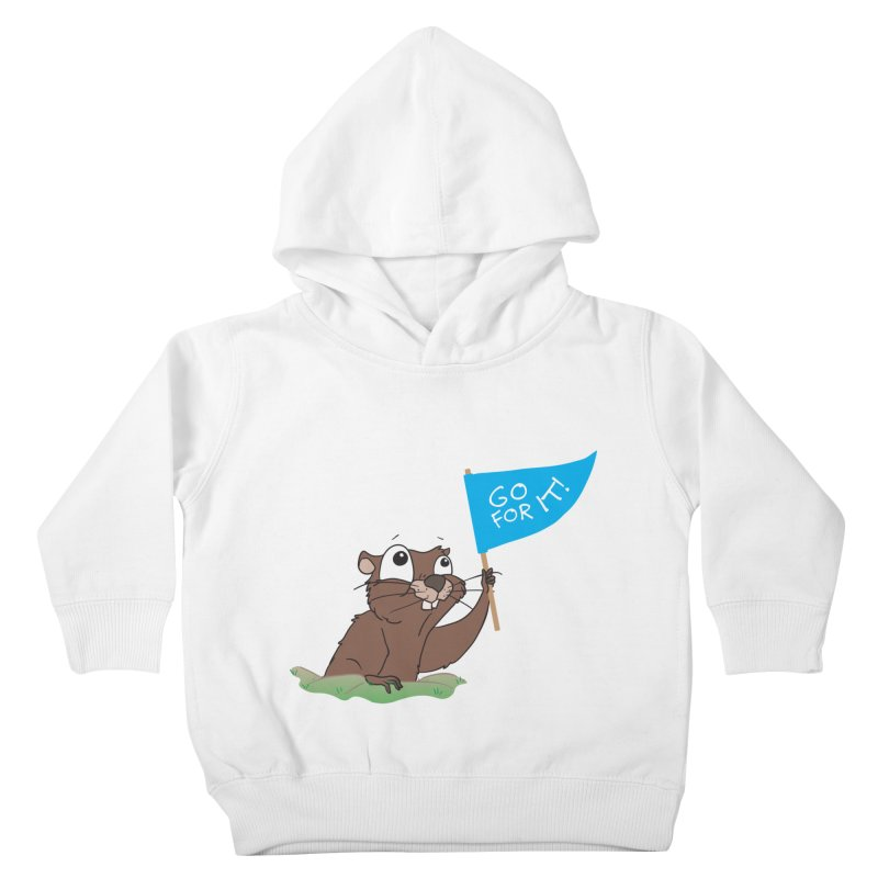 Gopher it! Kids Toddler Pullover Hoody by LLUMA Creative Design