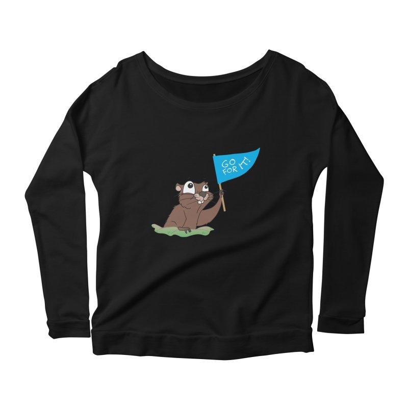 Gopher it! Women's Scoop Neck Longsleeve T-Shirt by LLUMA Creative Design