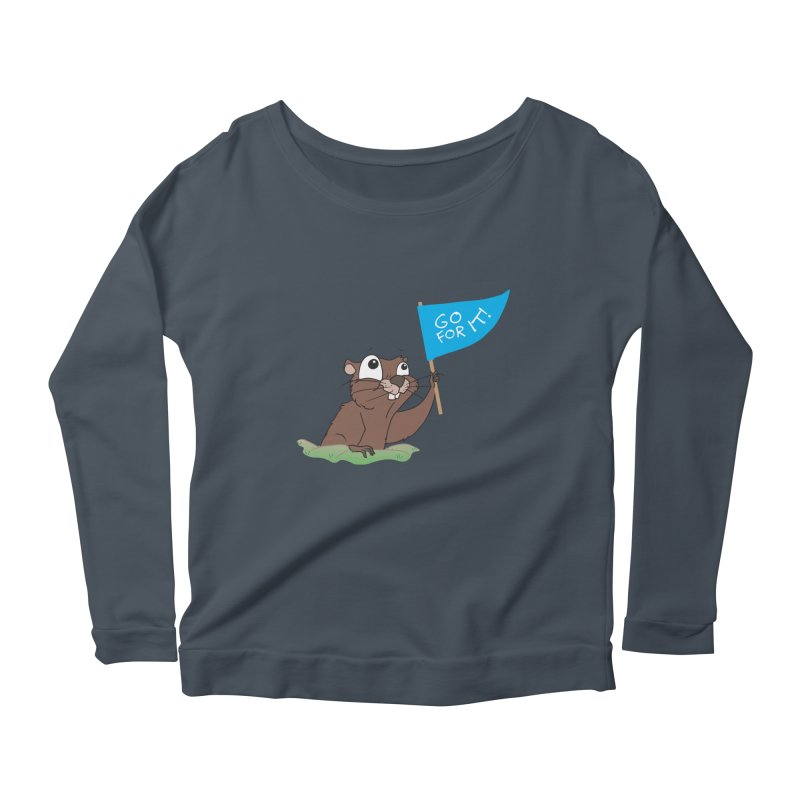 Gopher it! Women's Scoop Neck Longsleeve T-Shirt by LLUMA Creative Design
