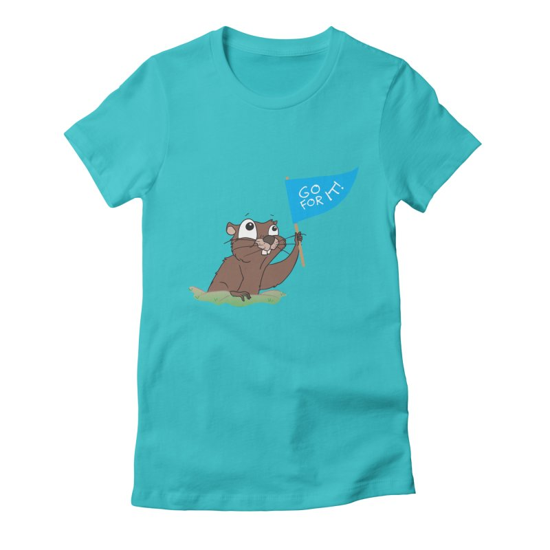 Gopher it! Women's Fitted T-Shirt by LLUMA Creative Design