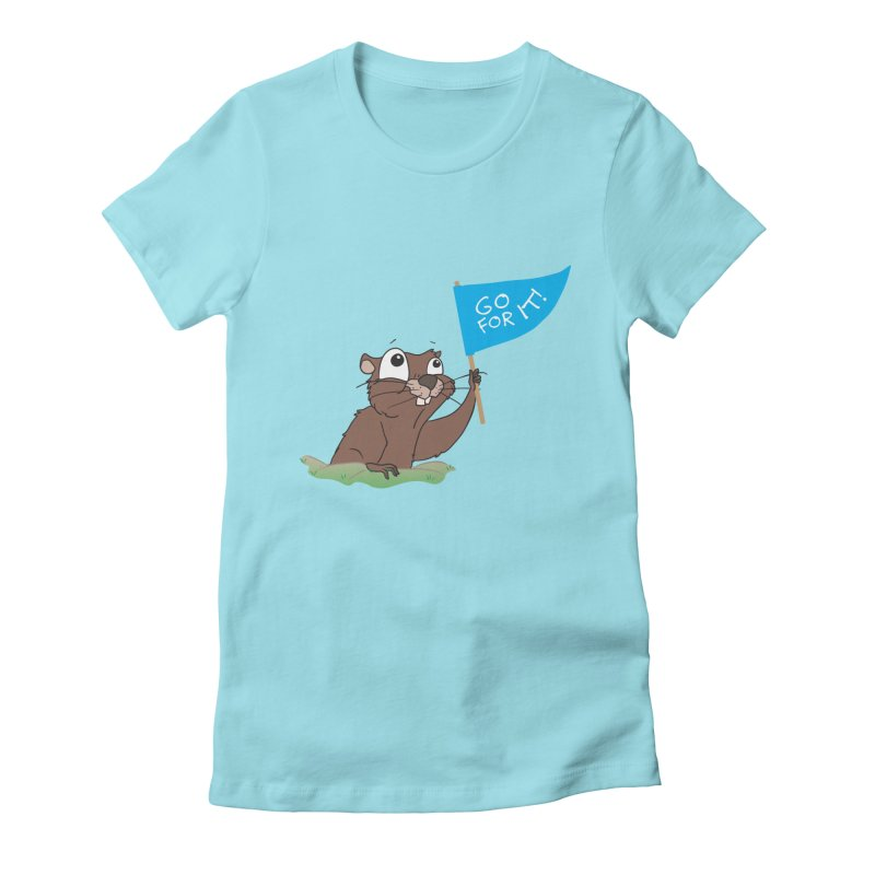 Gopher it! Women's Fitted T-Shirt by LLUMA Creative Design