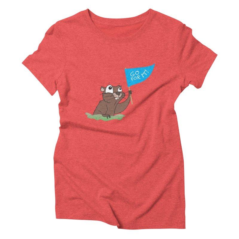 Gopher it! Women's Triblend T-Shirt by LLUMA Creative Design