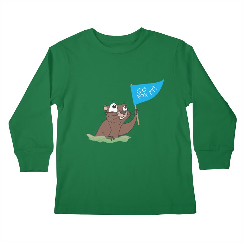 Gopher it! Kids Longsleeve T-Shirt by LLUMA Creative Design