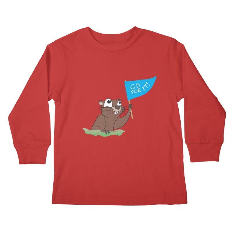 Gopher it! Kids Longsleeve T-Shirt by LLUMA Creative Design