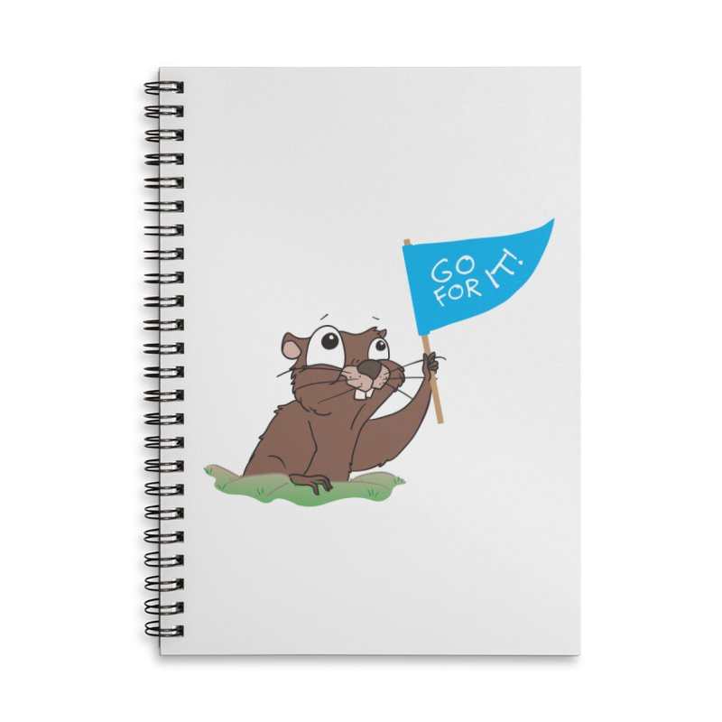 Gopher it! Accessories Lined Spiral Notebook by LLUMA Creative Design