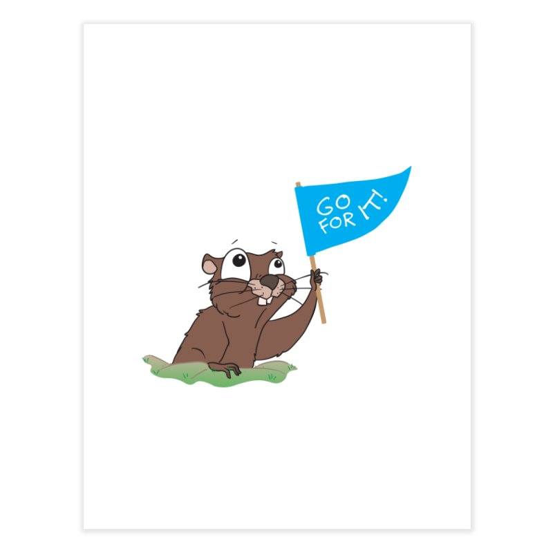 Gopher it! Home Fine Art Print by LLUMA Creative Design