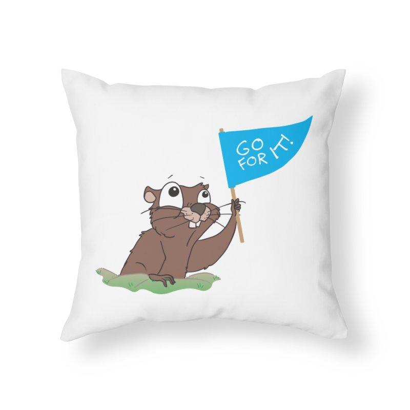 Gopher it! Home Throw Pillow by LLUMA Creative Design