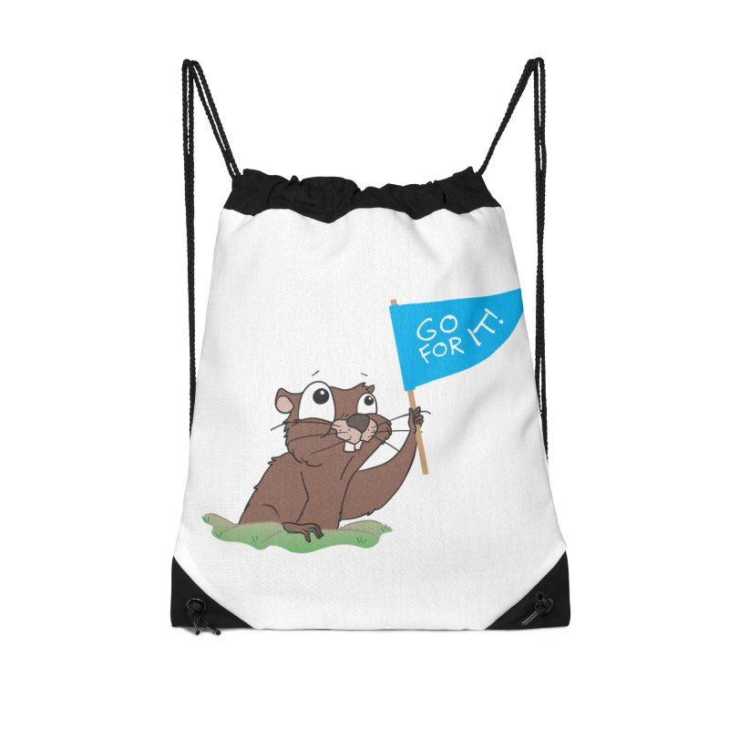 Gopher it! Accessories Drawstring Bag Bag by LLUMA Creative Design