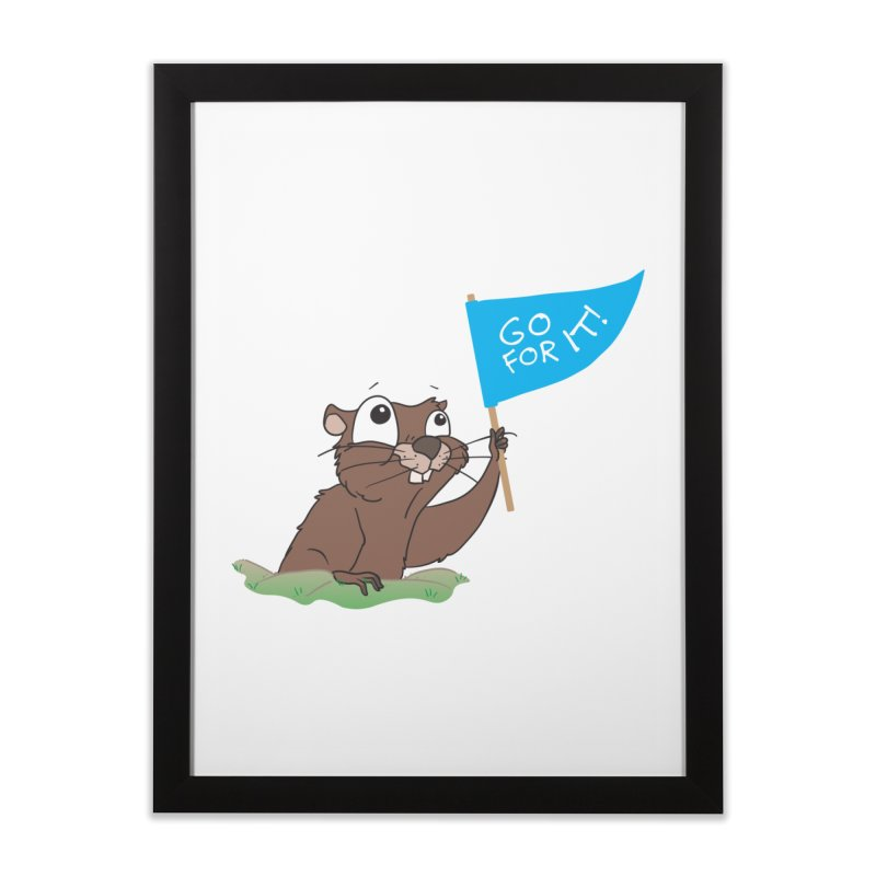 Gopher it! Home Framed Fine Art Print by LLUMA Creative Design