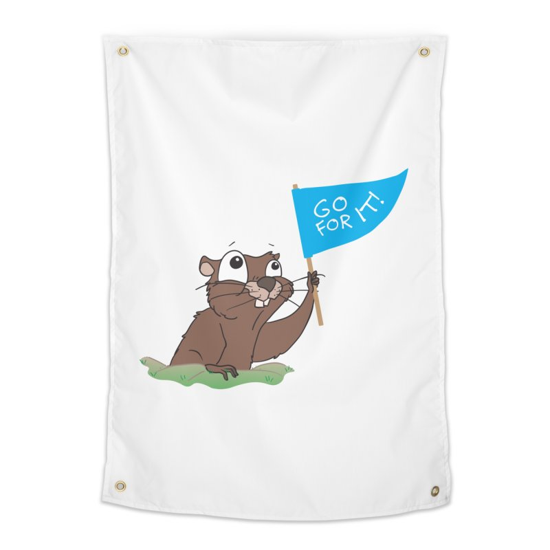 Gopher it! Home Tapestry by LLUMA Creative Design