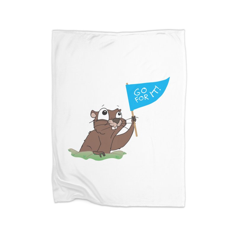 Gopher it! Home Fleece Blanket Blanket by LLUMA Creative Design