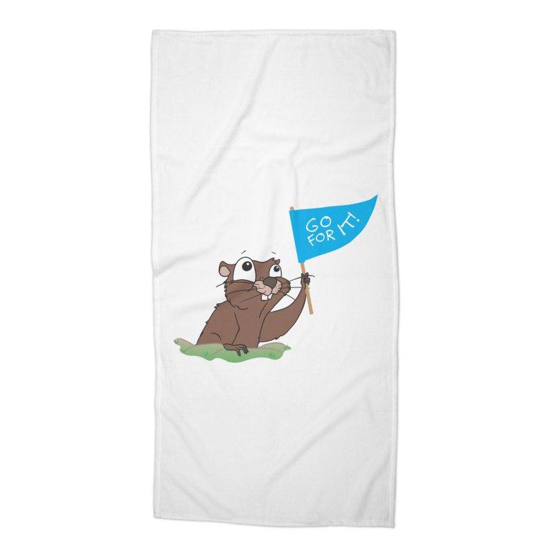 Gopher it! Accessories Beach Towel by LLUMA Creative Design
