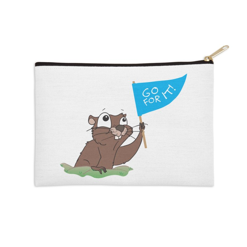 Gopher it! Accessories Zip Pouch by LLUMA Creative Design