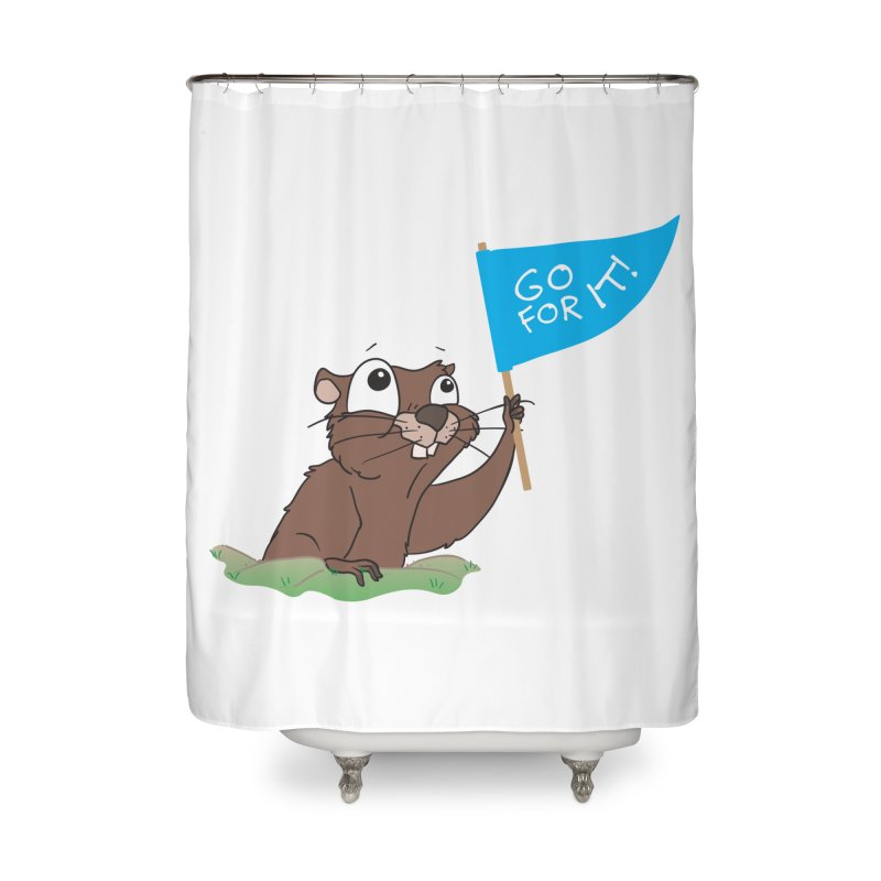 Gopher it! Home Shower Curtain by LLUMA Creative Design