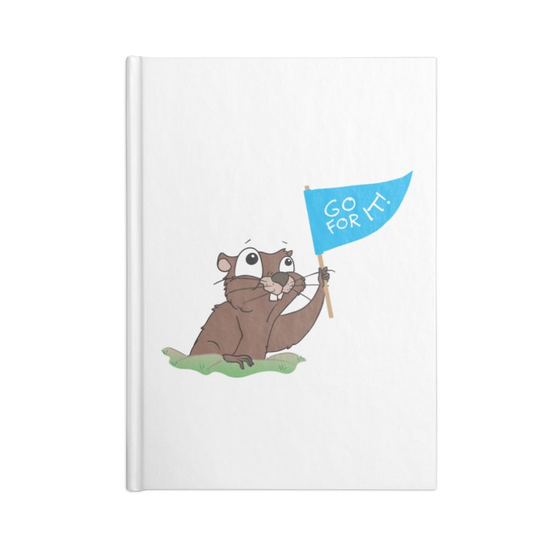 Gopher it! Accessories Lined Journal Notebook by LLUMA Creative Design