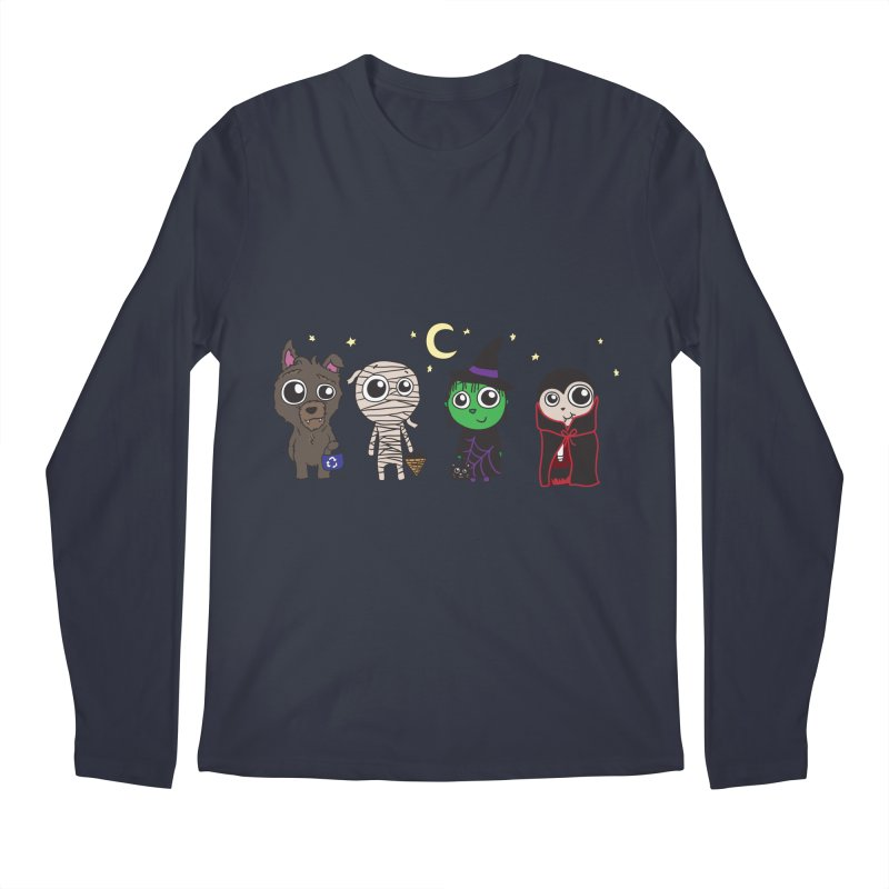 Happy Halloween! Men's Regular Longsleeve T-Shirt by LLUMA Creative Design