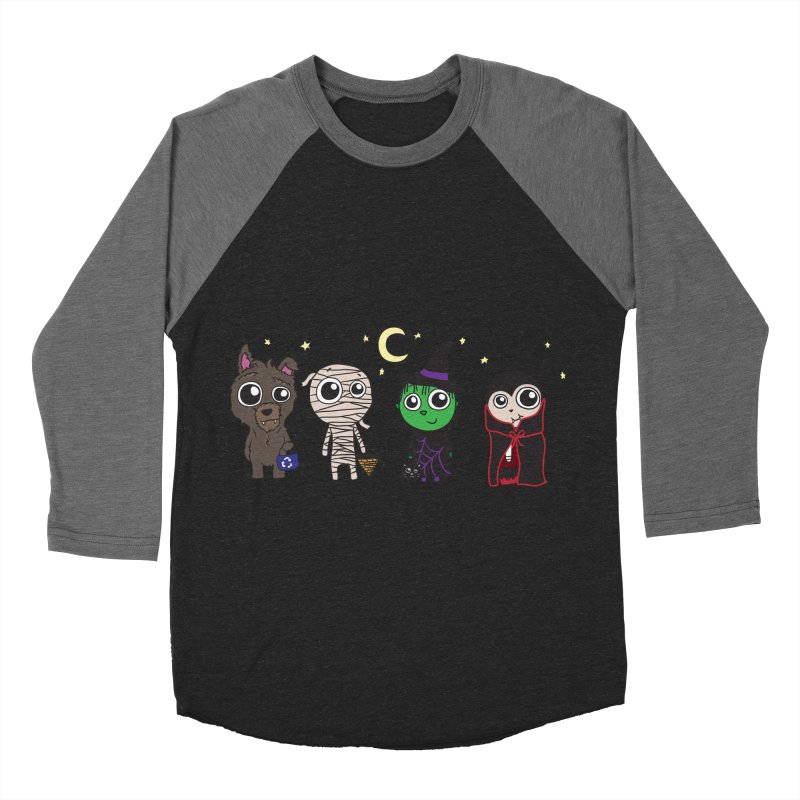 Happy Halloween! Men's Baseball Triblend Longsleeve T-Shirt by LLUMA Creative Design