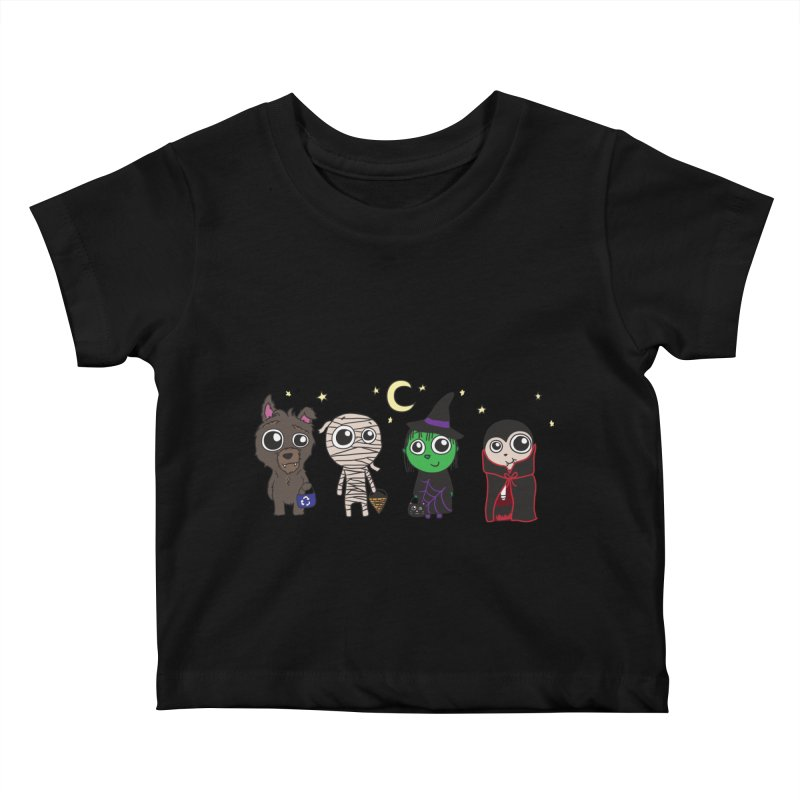 Happy Halloween! Kids Baby T-Shirt by LLUMA Creative Design