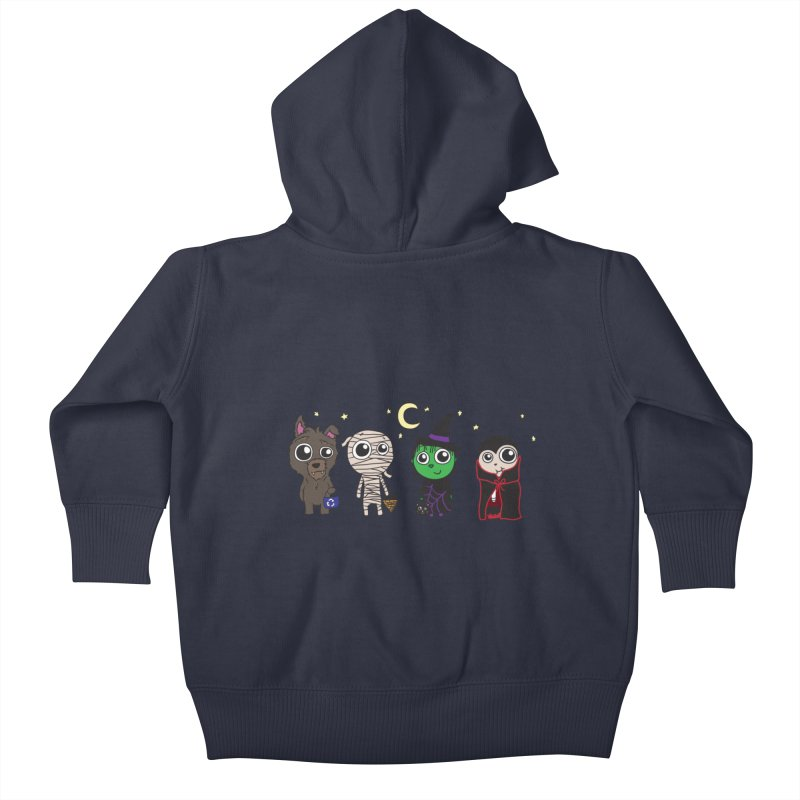 Happy Halloween! Kids Baby Zip-Up Hoody by LLUMA Creative Design