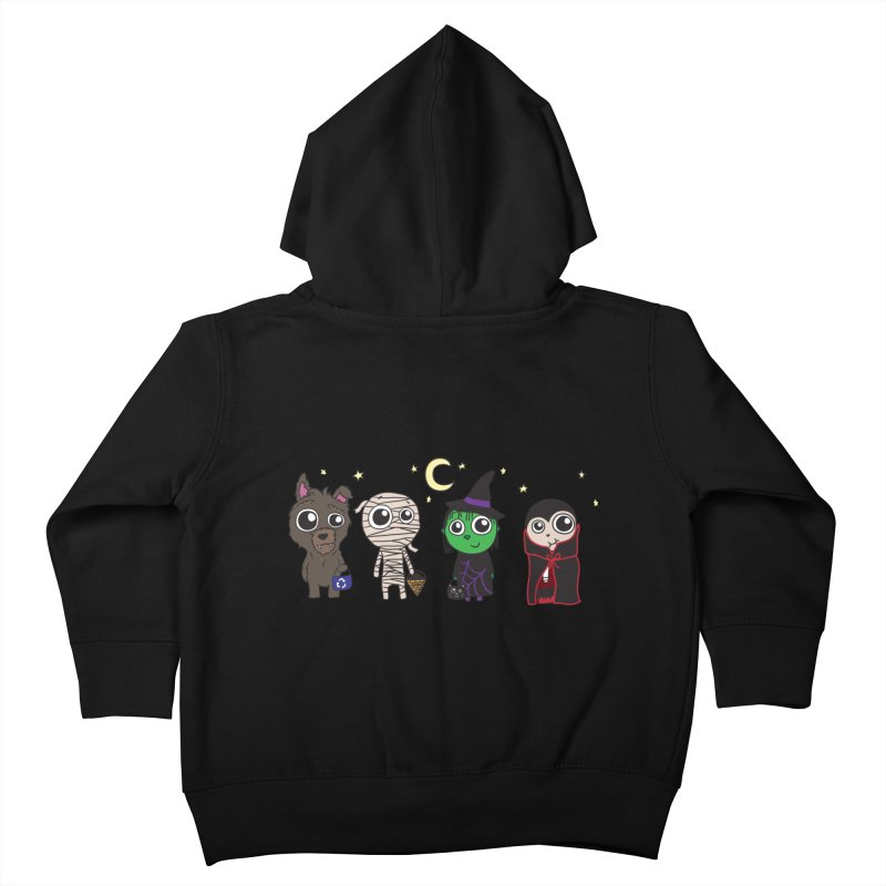 Happy Halloween! Kids Toddler Zip-Up Hoody by LLUMA Creative Design
