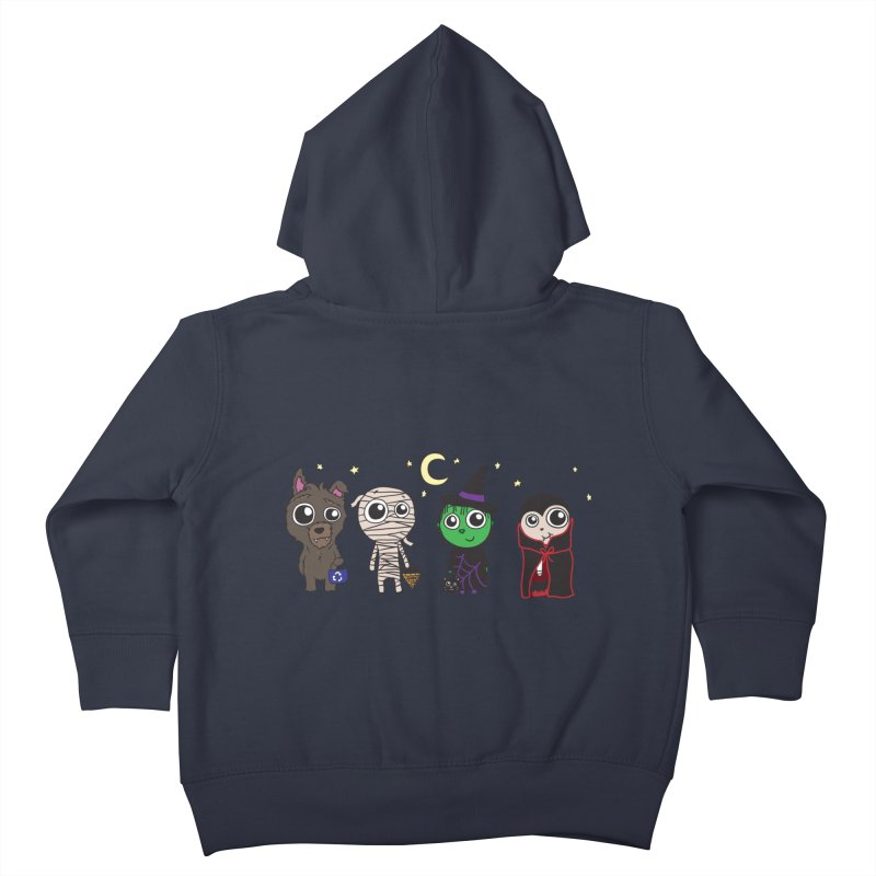 Happy Halloween! Kids Toddler Zip-Up Hoody by LLUMA Creative Design
