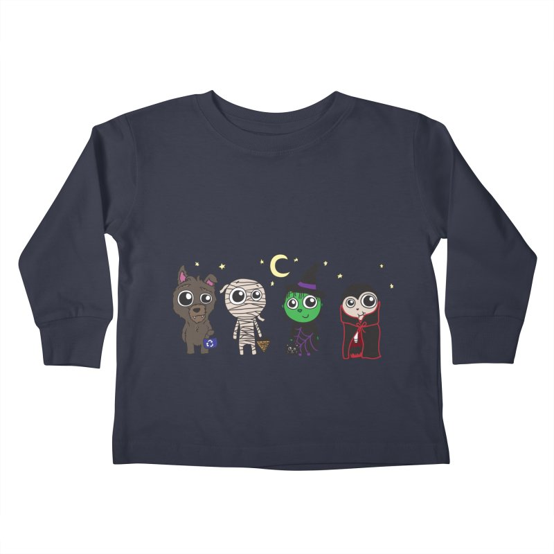 Happy Halloween! Kids Toddler Longsleeve T-Shirt by LLUMA Creative Design