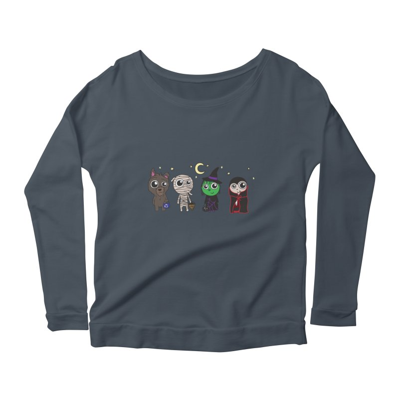 Happy Halloween! Women's Scoop Neck Longsleeve T-Shirt by LLUMA Creative Design