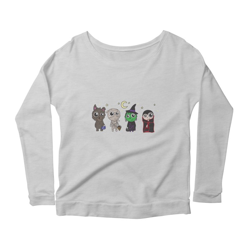 Happy Halloween! Women's Scoop Neck Longsleeve T-Shirt by LLUMA Creative Design